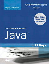 The cover of Teach Yourself Java in 21 Days (6th Edition) by Rogers Cadenhead