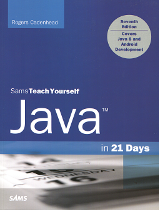 The cover of Teach Yourself Java in 21 Days (7th Edition) by Rogers Cadenhead