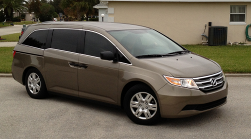 photo of my stolen 2012 Honda Odyssey