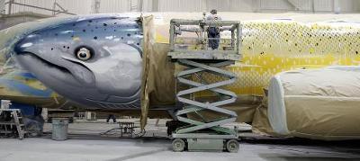 Alaska Airlines Salmon Plane