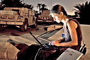 War correspondent Anna Badkhen of the San Francisco Chronicle in Iraq