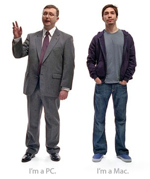 Justin Long and John Hodgman as Mac Dude and PC Guy