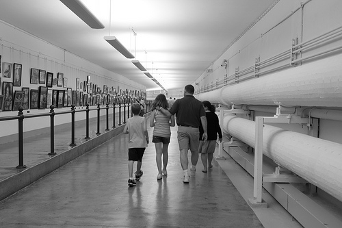 Walking the tunnels to the Cannon Building in the U.S. Capitol, photo by Indianagal