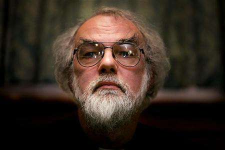Floating Head of Canterbury Rowan Williams, the leader of the Anglican Church