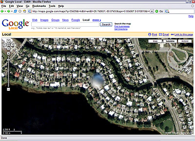 Google Maps Palm Beach, Florida, UFO