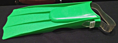 Green plastic swim fin