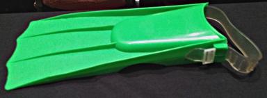 Green plastic swim fin