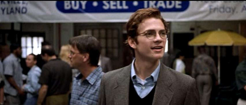 Hayden Christensen portrays Stephen Glass in the movie Shattered Glass