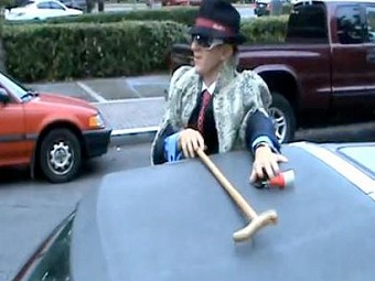 James O'Keefe's fake pimp costume from ACORN sting videos