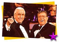 Jerry Lewis and Ed McMahon on Labor Day Telethon