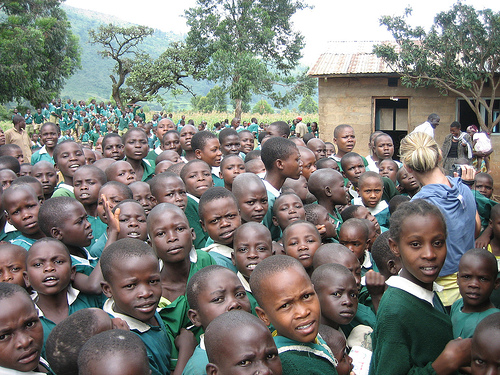 Children at a rural school near Kakamega, Kenya