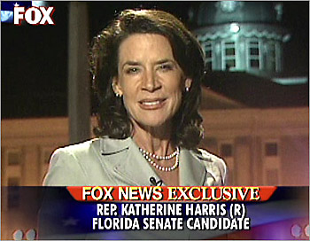 Katherine Harris, three-quarters profile, on Hannity & Colmes