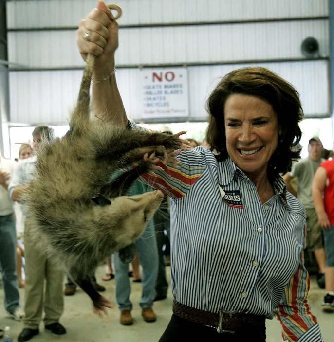 Katherine Harris scares a possum