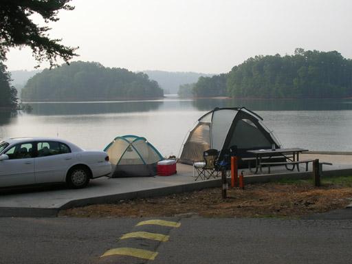 Campsite on Lake Keowee