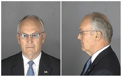 Mugshot of Sen. Larry Craig