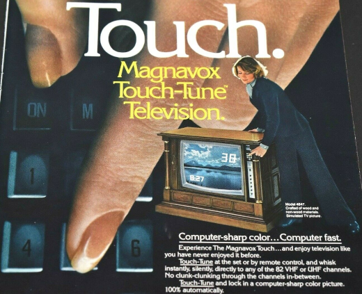 Ad for Magnavox Touch-Tune Television from the 1970s