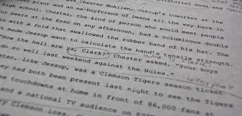 Marked up manuscript
