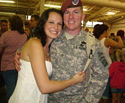 Army Staff Sgt. Matthew Sitton and his wife Sarah Sitton