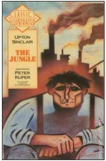 Cover of Peter Kuper's comic book adaptation of Upton Sinclair's The Jungle