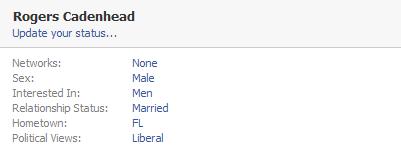 Rogers Cadenhead Facebook profile