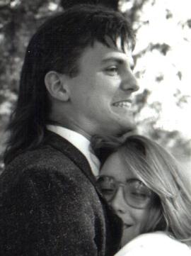 Rogers Cadenhead, proud mullet wearer, 1990, Denton, Texas