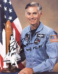 Space shuttle astronaut Mike Mullane