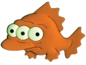 Blinky, the irradiated fish from The Simpsons