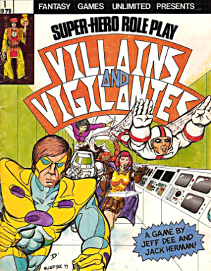 Villains and Vigilantes, 1st edition, cover