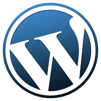 WordPress logo tilted to the left