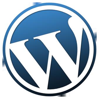 WordPress logo tilted to the left