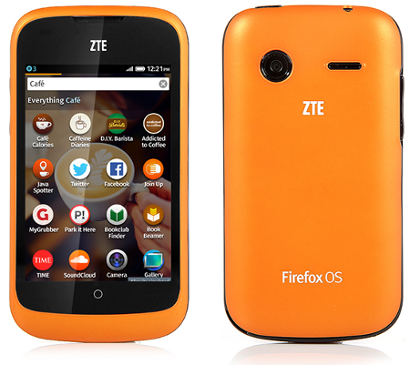 ZTE Open phone running Firefox OS
